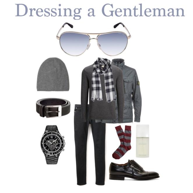 dressing a gentleman